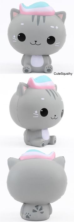 scented jumbo grey cat Minty Luna squishy by Cutie Creative - Cute Squishy Shop Chat Kawaii, Kawaii Plush, Kawaii Cat, Squishy Kawaii, Cool Squishies, Splat Balls, Slime And Squishy, Monster High Birthday, Grey Cats