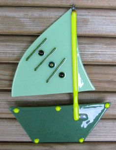 FUSED GLASS SAILBOAT
