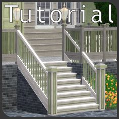 Sims 3 Tutorial: Outside stairs with wall under them
