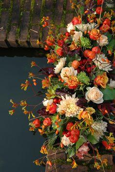 Afscheidsbloemen in de herfst