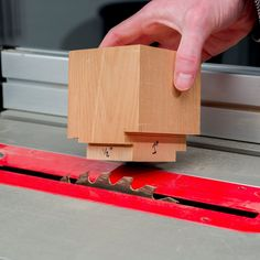 This gauge block is the quickest way to set the height of a table saw blade. This one is made from a 3-in. length of 4x4. #woodworkingtips #tablesaw