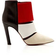 Calvin Klein Collection Nanette Suede Leather & Calf-Hair Ankle Boots