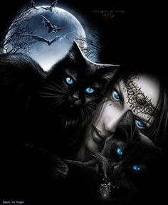 34 Best Ideas For Gothic Fantasy Art Beautiful Witches Dark Fantasy Art, Fantasy Kunst, Dark Art, Magic Cat, Witch Cat, Photo Chat, Goth Art, Dark Gothic, Halloween Art