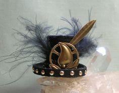 Dollhouse Doll Steampunk Top Hat 1:12 Scale Dolls by MostlyArt