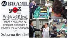 """Matéria Do SBT Brasil Sobre Os Produtos Da Copa Do Mundo Com A Participação Da Saturno Brindes. Matéria do SBT Brasil exibida no dia """"08/01/14"""" sobre o comercio de produtos dedicados a copa com a participação da Saturno Brindes, uma empresa de tradição que está no mercado de produtos promocionais para brinde desde de 1978. Confira mais sobre a empresa e seus produtos em nosso site: www.saturnobrindes.com.br ou pelo Telefone: (11) 2347 - 9444"""