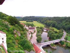 Rechtenstein-My Place (Germany) Seen high above from castle tower. Danube-Bridge, River Danube... Bridge, Castle, Germany, Tower, Landscape, Places, Outdoor, Outdoors, Lugares