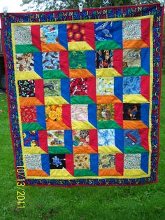 a really neat quilt by Lynne Struble - it's a great idea for eye spy fabrics.