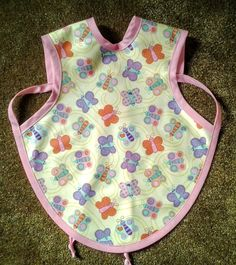 Waterproof Bapron/The Baby Apron - 6-18 months with Butterflies by GrandmaSewsBest on Etsy