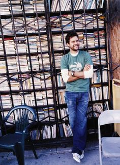 Joshua Jackson and books... does it get better than this? I think not.