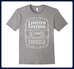 Mens 21st Birthday Gift T-Shirt - Born in 1996 Turning 21 Shirt Medium Slate - Birthday shirts (*Amazon Partner-Link)