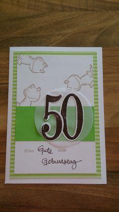 Geburtstagskarte zum 50. mit Produkten von Stampin up
