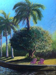 No Flamingos by Tammy Cox Pastel ~ 12 x 9