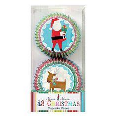 Meri Meri Tis The Season Christmas Santa Reindeer Baking Cups, Christmas Deer, Christmas Items, Cupcake Supplies, Baking Supplies, Cupcake Cases, Cupcake Liners, Lace Parasol, Tea Party Favors, Baking Accessories