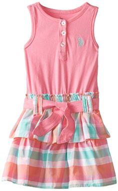 U.S. POLO ASSN. Little Girls' Tank Top and Ruffled Bottom Dress, Pink Lemonade, 3T U.S. Polo Assn. http://www.amazon.com/dp/B00PLRQZS8/ref=cm_sw_r_pi_dp_ukj7ub18NA8NN