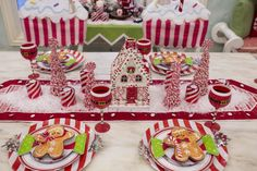 A Peppermint Christmas Breakfast Room - Turtle Creek Lane Gingerbread Christmas Decor, Candy Land Christmas, Merry Christmas, Gingerbread Decorations, Whimsical Christmas, Christmas Tree Themes, Christmas Tea, Christmas Breakfast, Christmas Kitchen