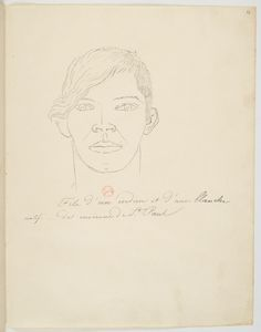 FLORENCE, Hercule -  Fils d'um indien et d'une blanche natif _ des environs de St. Paul [Desenho do Carnet de dessins] -  [1825] -  Grafite sobre papel -  19,3 x 24,7 cm -  Coleção Bibliothèque Nationale de France (Paris)