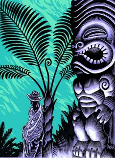 """The Lurid Low-Brow """"Tiki Art"""" of Brad Tiki-Shark Parker -- Tiki Central"""