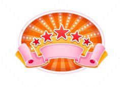 Emblem Logo FOr Show Circus Or Casino