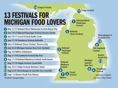 13 festivals for Michigan food lovers