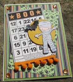 Happy Halloween Ghost Bingo Handmade Card by LoveInBloomCreations, $3.00