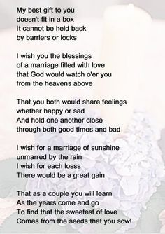 Image Result For Wedding Poems Bride And Groom