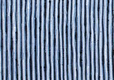 Blue - white and black stripes ragrug chindi - sustainable materials - handwoven in India.