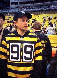 Charlie Hunnam + Steelers jersey   yes Jax Teller f9a5c32f5