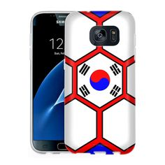 Samsung Galaxy S7 Soccer Ball Korea Flag Slim Case