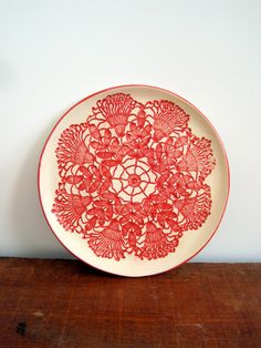 Vintage Inspired bright Cherry Red ceramic by ArtHausCeramics $26.00 & Ceramic bowl 5/50. u20ac15.00 via Etsy. | art | Pinterest | Ceramics ...