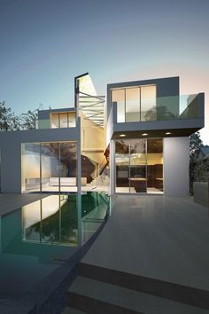 Beautiful contemporary...but better stock up on Windex