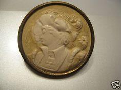 Early RARE French Gentlemen Button | eBay