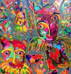 Musen der lagde øjenskygge på den bestøvlede kat ~ Bjørn Bjørnholt ~ Galerie Knud Grothe