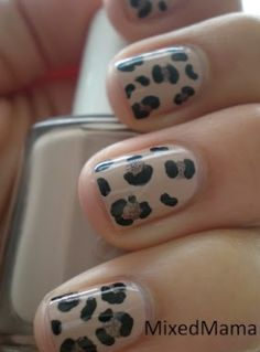 I have yet to try and do leopard print on my nails