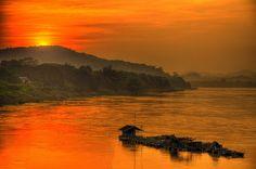 Sunset at Chiang Khan, Thailand