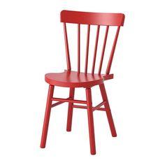 IKEA - NORRARYD, Sedia, Grazie all'ampiezza della sedia puoi trovare facilmente la posizione più comoda e adatta a te.Ti offre una seduta confortevole grazie allo schienale e al sedile sagomati.La superficie verniciata trasparente è facile da pulire.La struttura della sedia è in legno massiccio, un materiale naturale resistente.