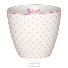 Greengate latte cup Spot raspberry