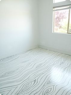 How To Paint Concrete - faux bois concrete floor. I love anything faux bois! Painted Concrete Floors, Painting Concrete, Diy Painting, Cement Floors, Paint Cement, Concrete Staining, Painted Wood, How To Paint Concrete, Birch Floors