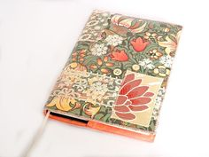 Notebook, Sketchbook, Journal, Diary Cover, A5, Fabric Collage and Vintage Lace, Handmade, OOAK, UK Seller by CiesseTextiles on Etsy