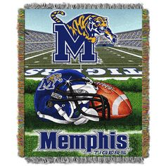 Memphis Tigers NCAA Woven Tapestry Throw (Home Field Advantage) (48x60)