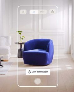 Augmented Reality Furniture + Decor: View in Your Room