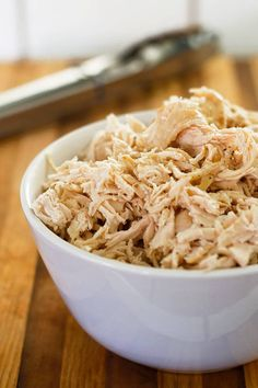 Ever wondered how to cook shredded chicken the best and easiest way possible? Look no further! From BakingMischief.com