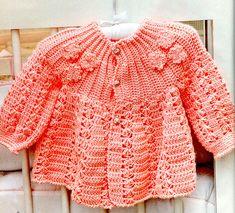 Crochet Baby : Casaquinho de crochet para bebê!