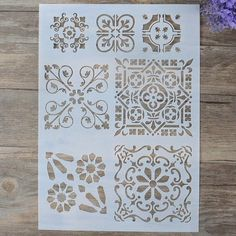 DIY Craft Layering Stencils For Walls Painting Scrapbooking Stamping Stamp Album Decorative Embossing Paper Card Flower Template