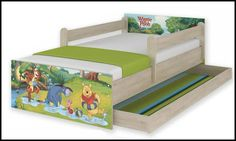 Disney children's bed Winnie the Enchanted Forest – Kiddymill Magical Room, Winnie The Pooh Nursery, Childrens Desk, Mattress Frame, Bed With Drawers, How To Make Bed, Kid Beds, Cot, Kids Bedroom