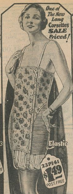 pinterest 1920 lingerie | 1924 Corselet with Elastic side panels from Vintage Dancer