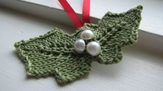 Knitted Hanging Christmas Ornament