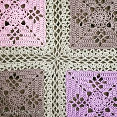 DIY – Victorian Lattice Square o min variant av Lace Join – BautaWitch Joining Crochet Squares, Crochet Motifs, Granny Square Crochet Pattern, Crochet Granny, Baby Blanket Crochet, Crochet Stitches, Free Crochet, Crochet Bedspread Pattern, Afghan Crochet Patterns