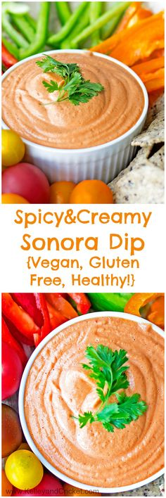 This 5 minute, no cooking req'd creamy and spicy dip is so flavorful and pairs perfectly with tortilla chips, fresh veggies, and crackers. Not only does it taste amazing, but it is healthy, vegan, dairy free and gluten free!