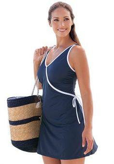 Wrap Swimdress | Plus Size One Piece Swimsuits | Jessica London