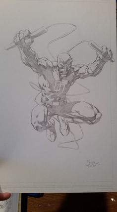 Drawing Superhero Daredevil by David Finch Comic Art Comic Book Artists, Comic Artist, Comic Books Art, Marvel Comics Superheroes, Dc Comics Art, Game Design, Comic Face, David Finch, Unique Drawings